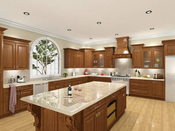 After picture of kitchen design