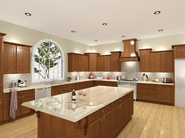 Kitchen design software rendering
